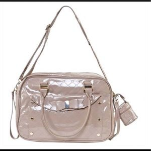 Other - Nude patent leather diaper bag